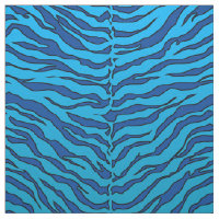 luxurious blue and blue animal Tiger print Fabric