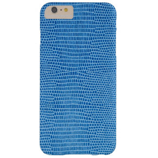 Luxurious blue leather barely there iPhone 6 plus case