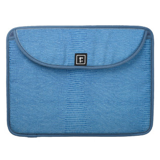 Luxurious blue leather sleeves for MacBook pro