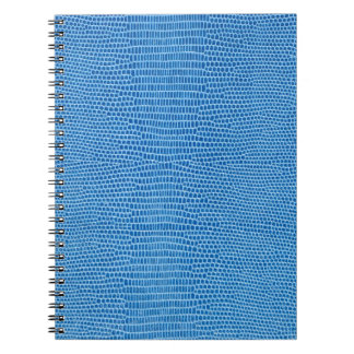 Luxurious blue leather notebook
