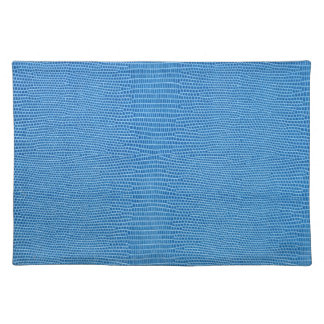 Luxurious blue leather placemat