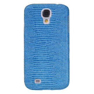 Luxurious blue leather samsung s4 case