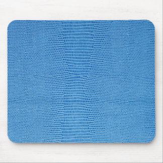 Luxurious blue leather alfombrilla de ratón