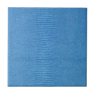 Luxurious blue leather tile