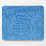Luxurious blue more leather mouse pads