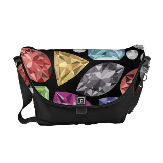 Luxurious colorful Diamond Pattern Courier Bag