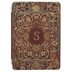 Luxurious Gilding On Leather Monogram Ipad Air Cover at Zazzle