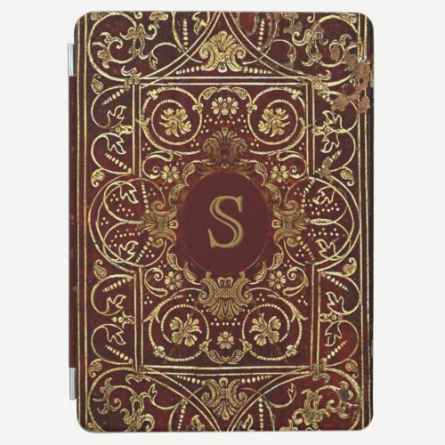 Luxurious Gilding On Leather Monogram iPad Air Cover