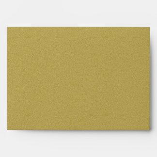 Luxurious Glitter Gold Envelopes