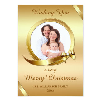 Luxurious Gold Christmas Photo Card