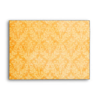 Luxurious Gold Damask: Linen A-7 Envelope