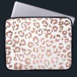"Luxurious hand drawn rose gold leopard print computer sleeve<br><div class=""desc"">A modern,  luxurious and stylish hand drawn leopard print pattern with faux rose gold foil . The background color is fully customizable</div>"