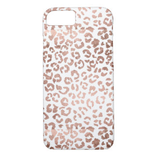 Luxurious hand drawn rose gold leopard print iPhone 7 case