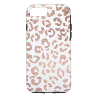 Luxurious hand drawn rose gold leopard print iPhone 8/7 case