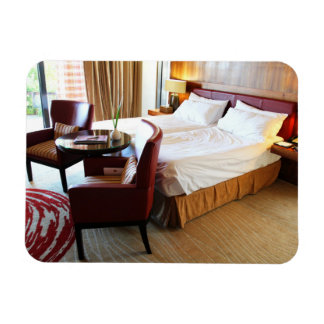 Luxurious Hotel Room Rectangular Photo Magnet