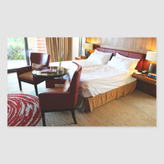 Luxurious Hotel Room Rectangular Sticker