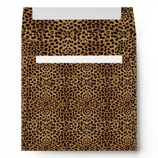 Luxurious Leopard Square Envelope envelope