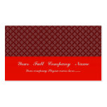 luxurious light red pattern on rough red backgroun business cards