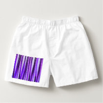 Luxurious Lilac, Purple and Silver Stripy Pattern Boxers