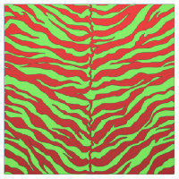 luxurious lime and red animal tiger print fabric