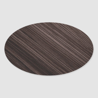 Luxurious Mahogany Wood Look Background Oval Sticker