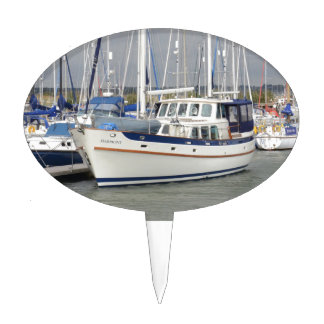 Luxurious Motor Sailor Harmony Cake Topper