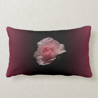 Luxurious Pink Rose Ombre Pattern Throw Pillow