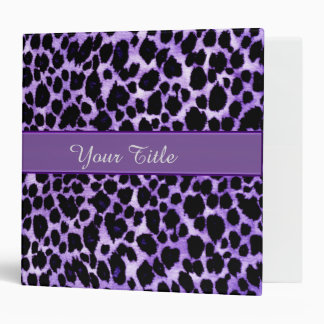 Luxurious Purple Leopard Binder Portfolio