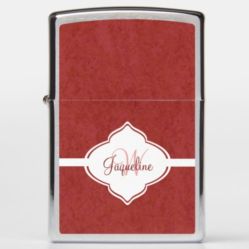 Luxurious Red Monogram Zippo Lighter