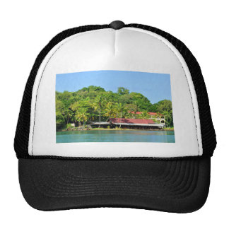 Luxurious resort trucker hat