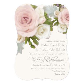 Luxurious Romantic Floral Wedding Rose Succulents Card