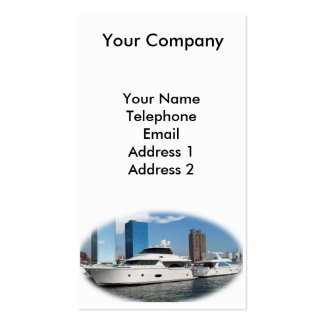 Luxurious Yacht Anchored at the Waterfront Double-Sided Standard Business Cards (Pack Of 100)
