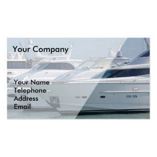 Luxurious Yachts are Lined up in Port Double-Sided Standard Business Cards (Pack Of 100)
