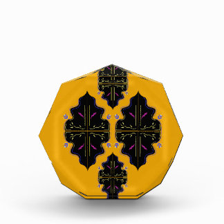 Luxury arabic Ornaments black yellow Award