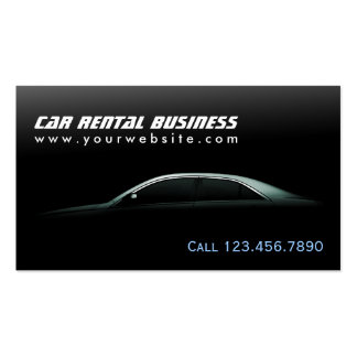 Luxury Auto Outline Car Hire/Rental Business Card