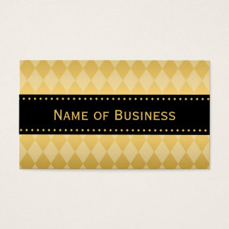 Luxury Black and Gold Argyle Pattern Business Card
