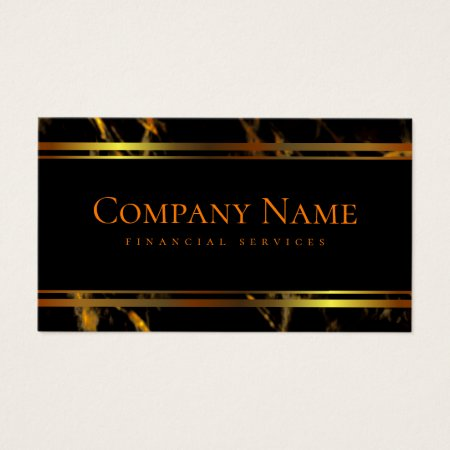 Classy Elegant Black Marble and Gold Accountant Business Cards Template