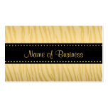 Luxury Black and Gold Tiger Stripes Double-Sided Standard Business Cards (Pack Of 100)