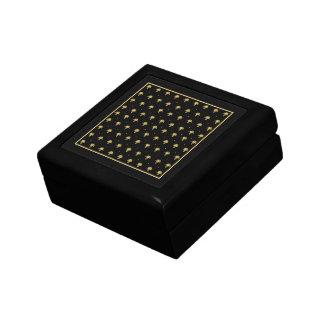 Luxury Black and Gold Vintage Damask Pattern Gift Box