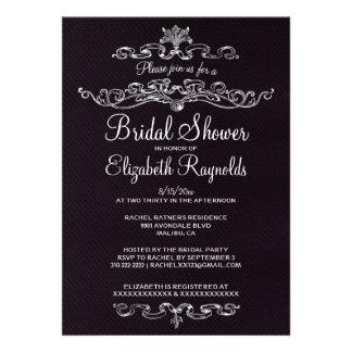 Luxury Black Bridal Shower Invitations Personalized Invitations