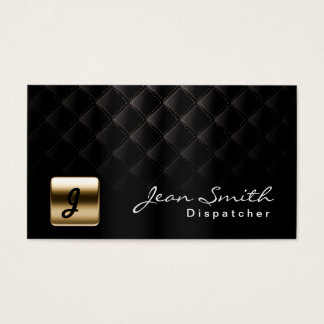 Luxury Black & Gold Dispatcher Business Card