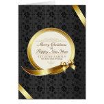 Luxury Black & Gold Elegant Merry Christmas Card