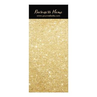 Luxury Black & Gold Glitter Background Rack Cards