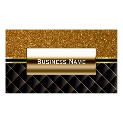 Luxury Black & Gold Glitter Business Card