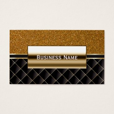 Lawyer Themed Luxury Black & Gold Glitter Business Card