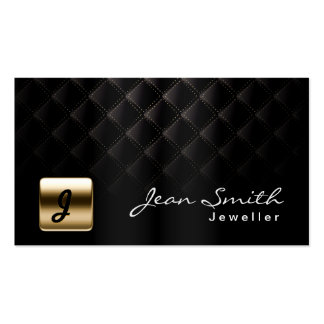 Luxury Black & Gold Jewellery Business Card