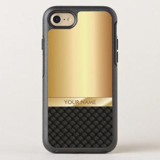 Luxury Black & Gold Name Elegant OtterBox Symmetry iPhone 7 Case
