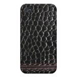 Luxury black leather Case iPhone 4/4S Cover