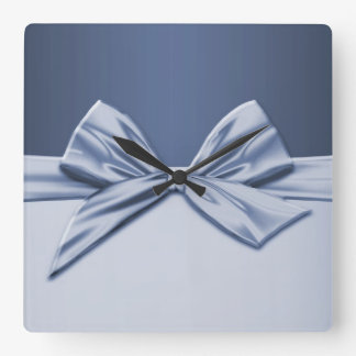 Luxury Blue Elegant Ribbon Clock