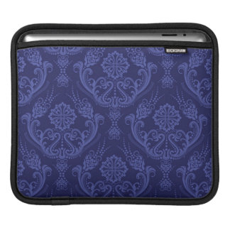 Luxury blue floral damask wallpaper iPad sleeve